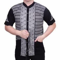 Katalog Ormano Baju Koko Muslim Batik Lebaran Lengan Pendek Zo17 Kk11 Kemeja Fashion Pria Hitam Terbaru