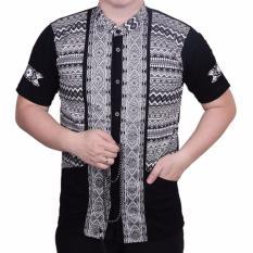 Ongkos Kirim Ormano Baju Koko Muslim Batik Lebaran Lengan Pendek Zo17 Kk12 Kemeja Fashion Pria Hitam Di Indonesia