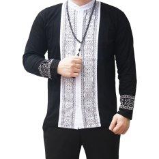 Harga Ormano Baju Koko Muslim Panjang Eksklusif N14 Hitam Seken