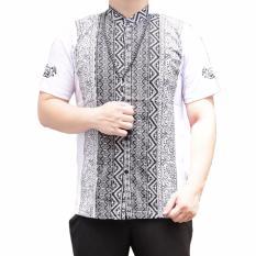 Ormano Baju Koko Muslim Pendek Eksklusif N43- Putih
