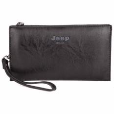 Ormano Dompet Handbag Pria Jeep-B Bahan Kulit Stylish Zipper Fashion Casual Accessories Long s0063 - Black