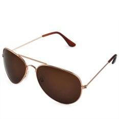 Jual Ormano Fashion Uv400 Aviator Mirror Sunglasses Cokelat