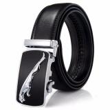 Ormano Ikat Pinggang Kulit Model Jaguar Belt Ban Pinggang S7485 Black Silver Diskon Akhir Tahun