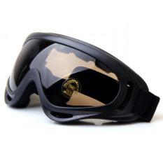 Kacamata Safety Airsoft Goggle Paintball Glasses Kacamata Ski - Coklat
