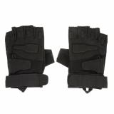 Ormano Sarung Tangan Motor Sepeda Outdoor Sports Half Finger Tali Kanvas Fingerless Gloves Size L S9546 Asli