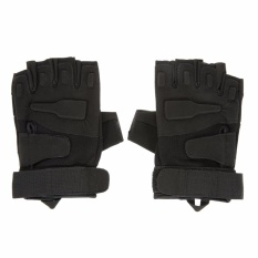 Ormano Sarung Tangan Motor Sepeda Outdoor Sports Half Finger Size L Tali Kanvas Fingerless Gloves Racing