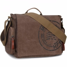 Ormano Tas Selempang Pria Messenger Canvas Printing Rafael Korean Messenger Bag Laptop Gadget Bodypack Shoulder Bags Sling Bag Tas Bahu Casual s5068 - Brown