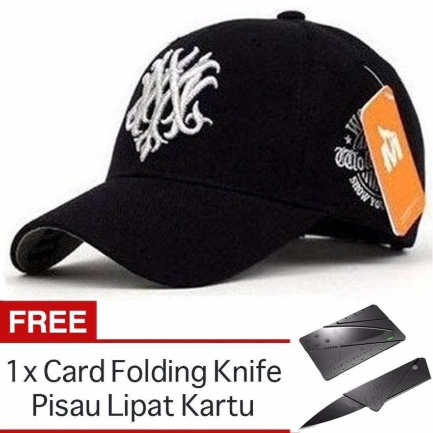 Ormano Topi Baseball Snapback Baseball Cap Wolf Mz Hitam + FREE Card  Folding Knife Pisau Lipat 6ce7fd449a