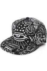 Promo Ormano Topi Baseball Snapback Cap Hip Hop Graffiti Hitam
