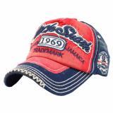 Promo Ormano Topi Baseball Snapback Cap Korean Hip Hop Rock Shank Cap Merah