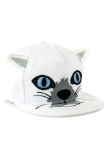 Jual Ormano Topi Baseball Snapback Hip Hop Cat Cap Putih Ormano Grosir