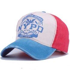 Ormano Topi Baseball Snapback Hip Hop NYPD Cap - Biru Merah 2e0f701fbd
