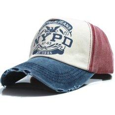Ormano Topi Baseball Snapback Hip Hop NYPD Cap - Merah