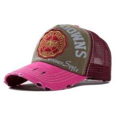 Ormano Topi Baseball Snapback Korea Style Breakdowns Cap - Merah Pink