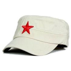 Jual Beli Online Ormano Topi Fashion Snapback Army Red Star Cap Beige