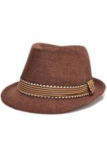 Spesifikasi Ormano Topi Fedora Cowboy Anak Polos Coklat Tua Lengkap