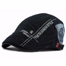 Ormano Topi Golf Summer Duckbill Pet Outdoor Fashion Letter Beret Retro K042 - Biru Navy