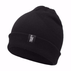Ormano Topi Kupluk Rajut True Fashion Casual Winter Hat Beanie s3683 - Hitam