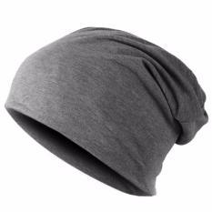 Ormano Topi Kupluk Winter Hat Beanie Pria Wanita s8945 - Dark Gray