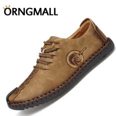 ORNGMALL Hot Sale Sepatu Handmade Italia Sepatu Kulit Casual Pria Sepatu  Formal Loafer Sepatu Flip Moccasin 363a199e50