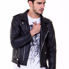 Os Ramones Jacket Leather Black