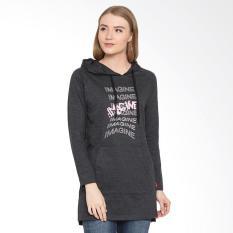 Osella Ladies Print Image Long Hoodie Sweater - Misty 81