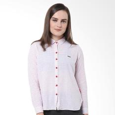 Osella Ladies Shirt Long Dobby Horizontal Bt Kemeja Wanita - Red