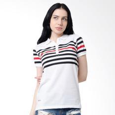 Osella Ladies Stripe Woman Polo Shirt Wanita - White