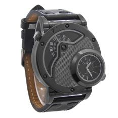 Jual Beli Oulm Russian Army Military Leather Strap Quartz Gerakan Watch Pria Baru Tiongkok