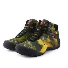 Toko Outdoor Kamuflase Sepatu High Top Profesional Sepatu Memanjat Pria Hiking Olahraga Sepatu Tahan Air Trekking Sepatu Khaki Intl Lengkap Di Tiongkok
