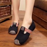 Promo Outdoor Fashion Sepatu Platform Untuk Wanita G*rl Ladies Cotton Linen Bordir Fabric Spring Musim Panas Kasual Datar Menari Plimsolls Sepatu Intl Zhaoyu