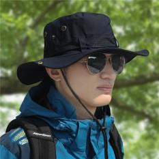 Review Tentang Outdoor Hat Pria Musim Panas Nelayan Hat Sun Hat Uv Perlindungan Pria Matahari Topi Korea Style Climbing Memancing Topi Hitam Intl