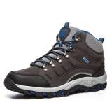 Miliki Segera Outdoor Pria Sepatu Kulit Mesh Bernapas Anti Selip Hangat Tahan Air Sepatu Kasual Pria Intl