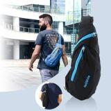 Review Outdoor Nylon Men Shoulder Bag Leisure Tourism Sports Chest Pack Riding Backpack Black Intl Di Tiongkok