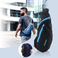Promo Outdoor Nylon Men Shoulder Bag Leisure Tourism Sports Chest Pack Riding Backpack Black Intl Oem