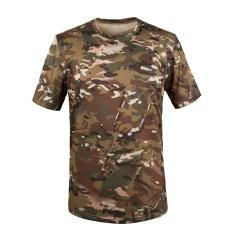 Toko Jual Outdoor Olahraga Hiking Kamuflase Gunung T Shirt Pria Cepat Kering Army Tactical Combat T Shirt Militer Camo Climbing Tees Cam04 Intl