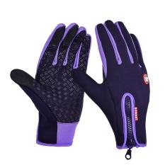 Outdoor Olahraga Hiking Musim Dingin Sepeda Bersepeda Gloves untuk Pria Women Windstopper Disimulasikan Sarung Tangan Hangat Lembut Kulit-Intl
