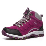 Outdoor Wanita Sepatu Kulit Mesh Bernapas Anti Selip Hangat Tahan Air Sepatu Kasual Pria Intl Oem Diskon