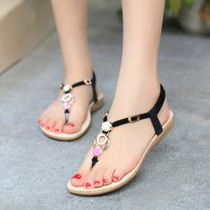Toko Outlet Pantai Sandal Dengan Flat Toe Sandal Hitam Intl Terlengkap Di Tiongkok