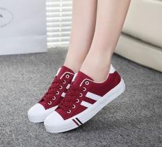 Beli Outlet Sepatu Kasual Kanvas Merah Online