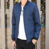 Toko Outlet Korea Korea Fashion Jaket Seragam Jaket Bisbol Pria Biru Tua Coklat Online Tiongkok