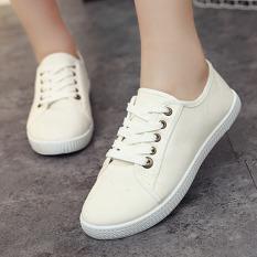 Jual Outlet Versi Korea Yang Rendah Sekali For Membantu Sepatu Kanvas Putih Internasional Oem Asli
