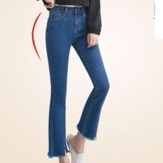 Beli Outlet Micro Flare Jeans Wanita Hitam Internasional Baru