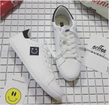Beli Outlet Sepatu Casual Pria Tali Kulit Smile White Intl Murah