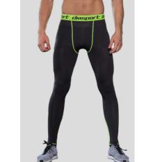 Outlet Pria Pro Olahraga Kebugaran Kompresi Elastis Cepat Kering Celana Intl Original