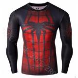 Spek Outlet Sports Fit Spider Man Kebugaran Kaus Oblong Hitam Internasional Tiongkok