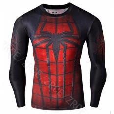 Jual Outlet Sports Fit Spider Man Kebugaran Kaus Oblong Hitam Internasional Grosir