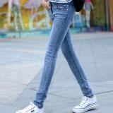 Beli Outlet Women Cahaya Berwarna Blue Jeans Oem Dengan Harga Terjangkau