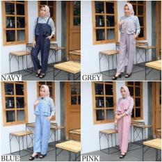 Overall Celana Wanita / Bawahan Hijab / Baju Murah : Franda Jumpsuit
