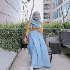 Overall Rok Wanita Acha Overall  Bawahan Muslim Keren - Rok Muslimah Jumper Rok Muslim Bawahan Hits Muslim Dress Cantik
